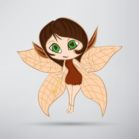 Illustration of a beautiful fairy in flight Иллюстрация