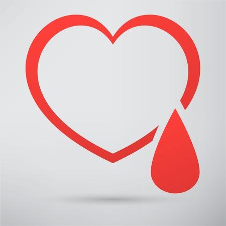 stress test: human heart icon Illustration