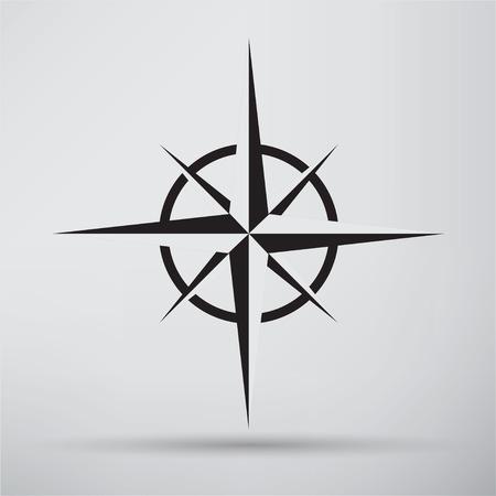 brujula: Icono de Compass Vectores