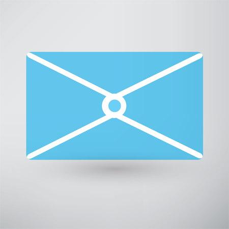 postal: postal envelope icon Illustration