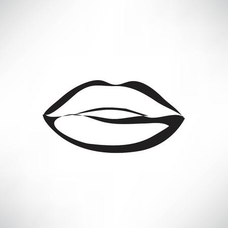 Kus lippen vector lippenstift pictogram passie symbool mensen Stockfoto - 41142150