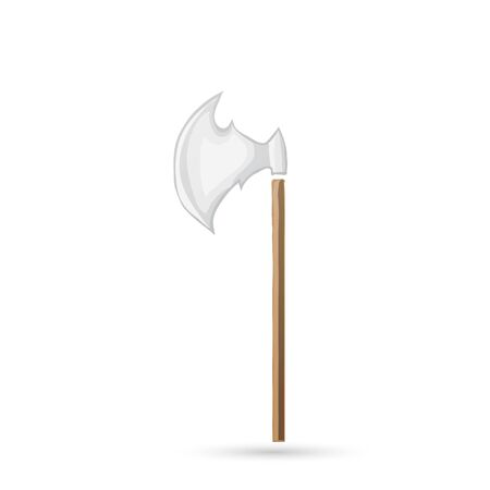 Medieval knight battle ax with armor pierce Vector