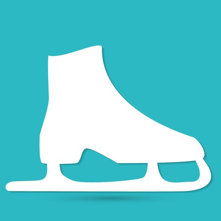 patins � glace: patins � glace symbole vecteur Illustration