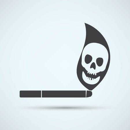 pernicious habit: Cigarette icon
