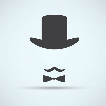 bowler hat: Bowler hat and moustache Illustration