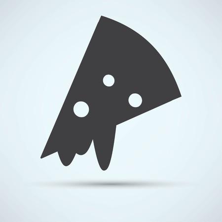 cheesy: pizza slice Illustration