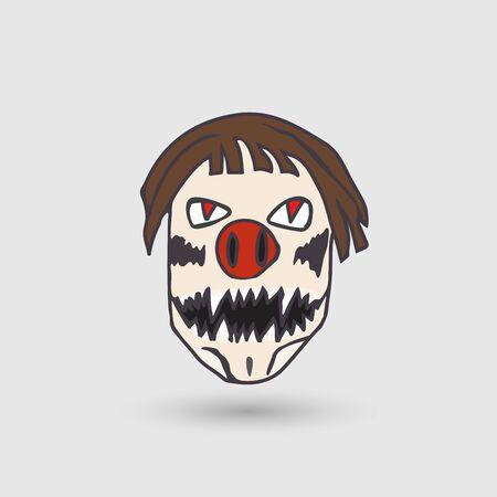 bugaboo: vector bogeyman head Illustration