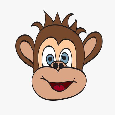 illustration of Cartoon Monkey Illustration