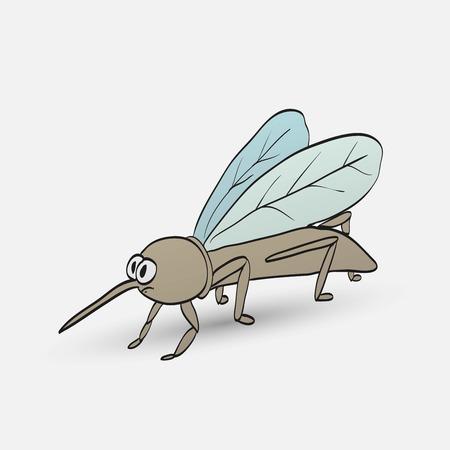 plague: nasty cartoon mosquito Illustration