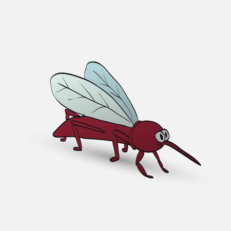 nasty: nasty cartoon mosquito Illustration