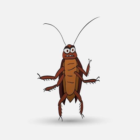cockroach: illustration of cartoon cockroach Illustration