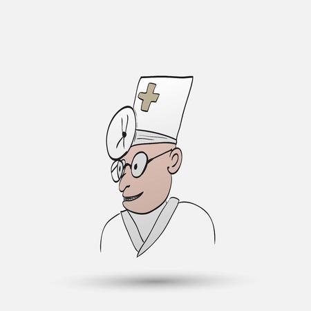 cross hatching: cartoon doctor