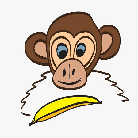 chimpanzees: illustration of Cartoon Monkey Illustration