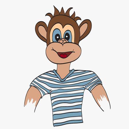 chimpances: ilustraci�n del mono de la historieta