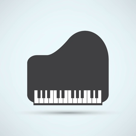 piano de cola: Icono de Piano