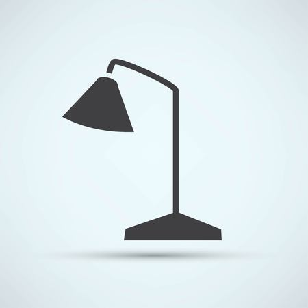 flexible business: Table Lamp Icon Illustration