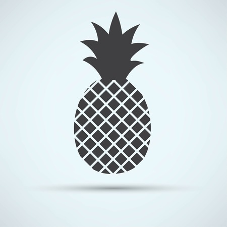 pineapple juice: pineapple icon Illustration