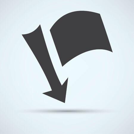 fixation: needle with a flag Illustration