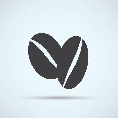 Coffee beans symbol 矢量图像