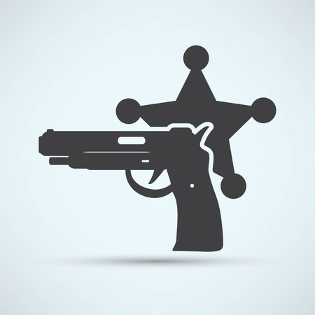 isolated modern police icon Vector