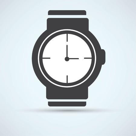 bangles hand: wristwatch icon Illustration