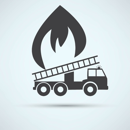 fire engine: illustration of a fire engine