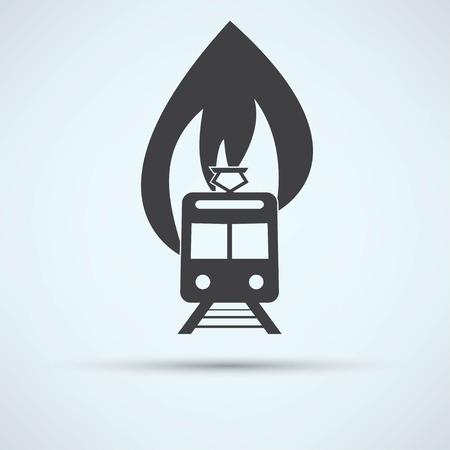 fire engine: illustrazione di un camion dei pompieri