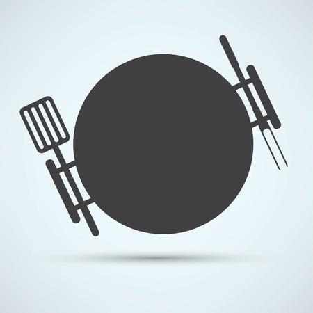 haunch: grill icon Illustration