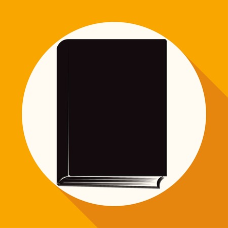 acquaintance: Book icon on white circle with a long shadow