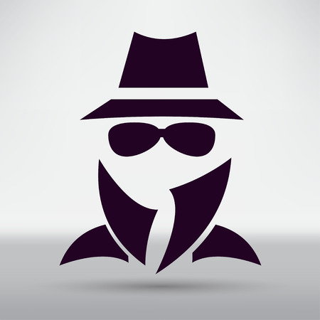Man in suit. Secret service agent icon 일러스트