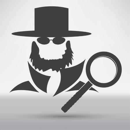 sideburn: beard icon Illustration