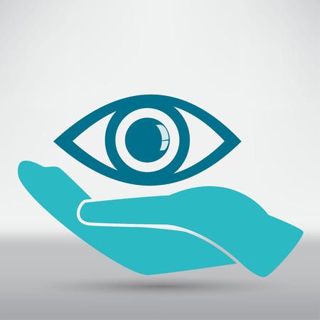 Bescherming van de ogen of Oogarts Concept illustratie Stock Illustratie