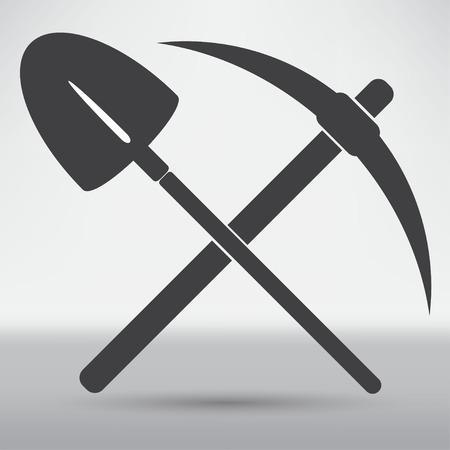 wybrać i łopata symbol