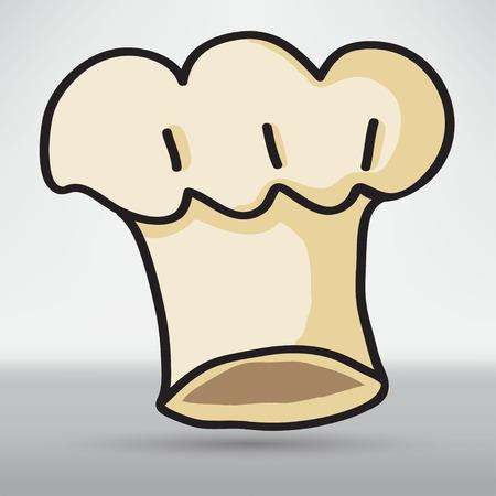 toque: Chief Cook Symbol Toque Illustration