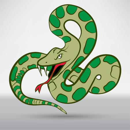 cartoon schlange: Illustration von Cartoon-Schlange