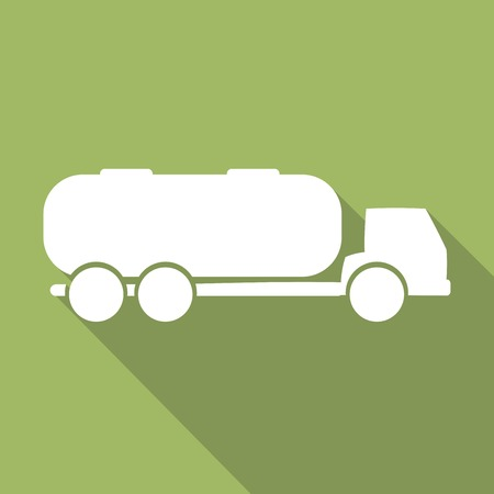 water tank: Tank truck with long shadow Illustration