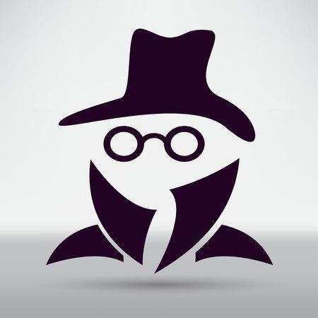 evade: Man in suit. Secret service agent icon Illustration