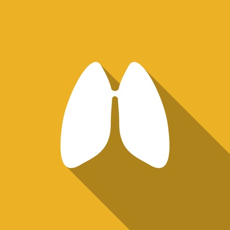 pulmones: Icon Lungs  with a long shadow