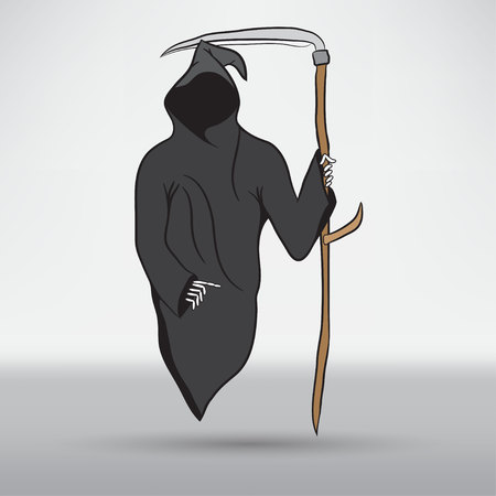 death symbol: Death with scytheman