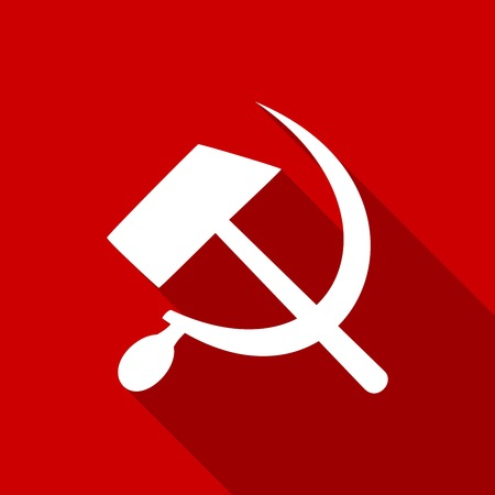sickle: sickle hammer icon with a long shadow