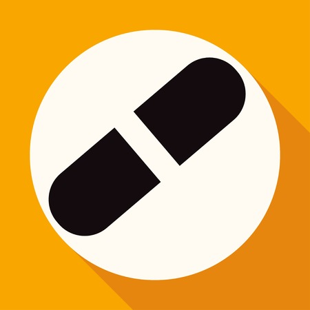 group therapy: medicine icon on white circle with a long shadow