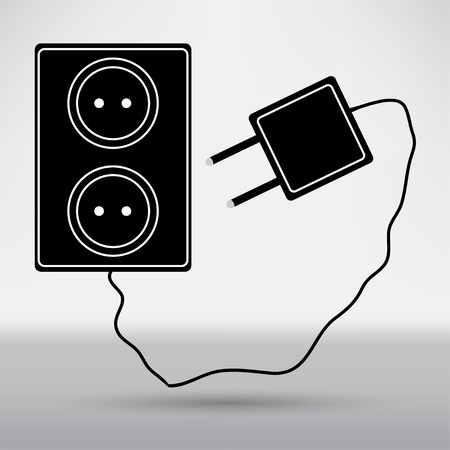 outlet: Electric outlet icon