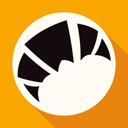Pain croissant sur le cercle blanc avec une longue ombre Banque d'images - 41837710