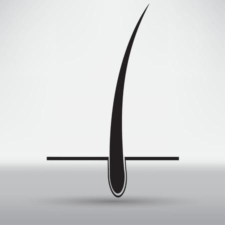 follicle: hair follicle treatment design Illustration