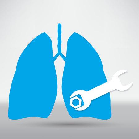 poumon humain: Human lung icon