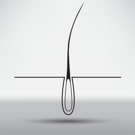 baldness: hair follicle treatment design Illustration