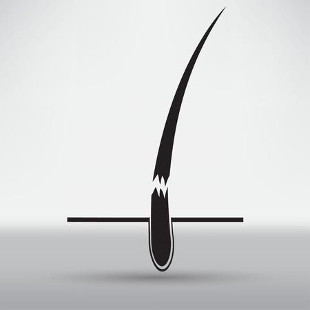 shrinking: hair follicle treatment design Illustration