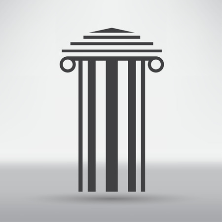 column: Antique Column Icon Illustration