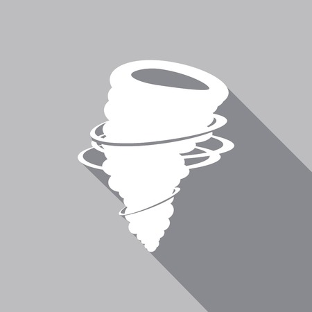 cyclonic: Icon Tornado with a long shadow Illustration