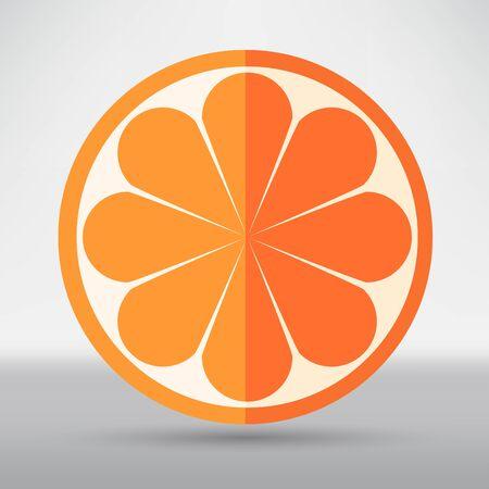 ripe: ripe orange Illustration